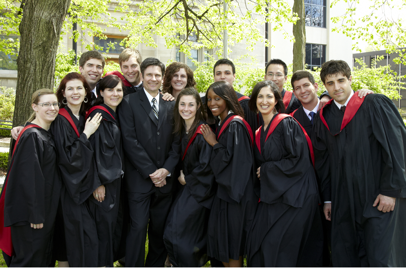 Niagara medical students pose for a photo at graduation ceremony