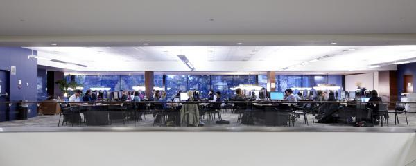 The upper level learning commons