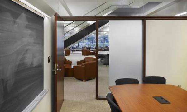 LCD Panel Group Study Rooms