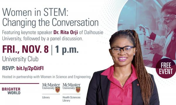 Women in stem event poster